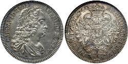1/4 Thaler Austria  Silver Charles VI, Holy Roman Emperor (1685-1740)
