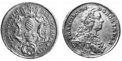 1/4 Thaler Imperial City of Augsburg (1276 - 1803) Silver Francis I, Holy Roman Emperor (1708-1765)