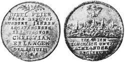 1/4 Thaler Principality of Ansbach (1398–1792) Silver Charles Alexander, Margrave of Brandenburg-Ansbach (1736 – 1806)