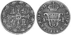 1/4 Tlaco Vizekönigreich Neuspanien (1519 - 1821) Kupfer Ferdinand VII. von Spanien (1784-1833)