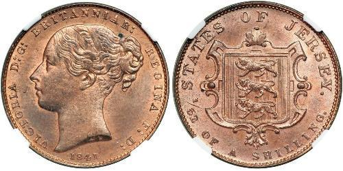 1/52 Shilling Jersey Kupfer Victoria (1819 - 1901)