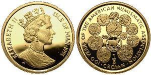 1/5 Crown Isle of Man Gold Elizabeth II (1926-)