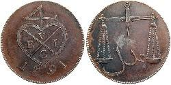 1.5 Paisa Indien (1950 - ) Kupfer