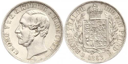 1/6 Талер Ганновер (королевство) (1814 - 1866) Серебро Георг V (король Ганновера) (1819 - 1878)