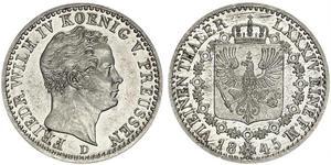 1/6 Талер Пруссия (королевство) (1701-1918) Серебро Фридрих Вильгельм IV (1795 - 1861)