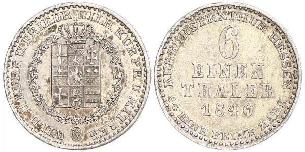 1/6 Талер княжество Гессен-Кассель (1567 - 1806) Серебро