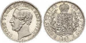 1/6 Талер Королівство Ганновер (1814 - 1866) Срібло Георг V (король Ганновера) (1819 - 1878)