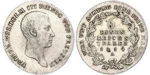 1/6 Талер Королівство Пруссія (1701-1918) Срібло Фрідрих Вільгельм III, король Пруссії  (1770 -1840)