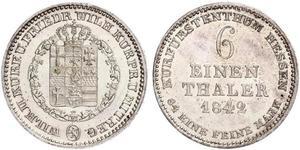 1/6 Талер князівство Гессен-Кассель (1567 - 1806) Срібло