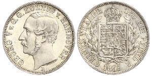 1/6 Thaler 汉诺威王国 (1814 - 1866) 銀 格奥尔格五世 (汉诺威) (1819 - 1878)