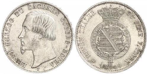 1/6 Thaler Duché de Saxe-Cobourg et Gotha (1826-1920) Argent Ernest II de Saxe-Cobourg et Gotha