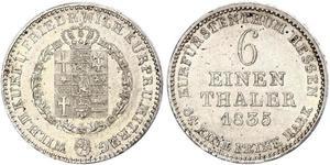 1/6 Thaler Hesse-Cassel (1567 - 1806) Argent