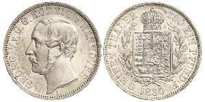 1/6 Thaler Regno di Hannover (1814 - 1866) Argento Giorgio V di Hannover (1819 - 1878)