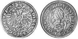 1/6 Thaler Augsburgo (1276 - 1803) Plata Fernando II de Habsburgo(1578 -1637)