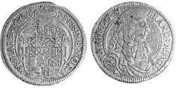 1/6 Thaler Principado de Ansbach (1398–1792) Plata John Frederick, Margrave of Brandenburg-Ansbach (1654 – 1686)