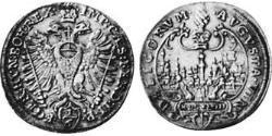 1/6 Thaler Augsburg (1276 - 1803) Silber Ferdinand II. (HRR)(1578 -1637)