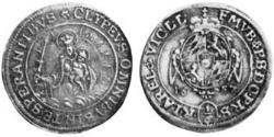 1/6 Thaler Electorate of Bavaria (1623 - 1806) Silver Ferdinand Maria, Elector of Bavaria (1636 – 1679)