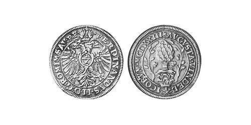1/6 Thaler Imperial City of Augsburg (1276 - 1803) Silver Ferdinand II, Holy Roman Emperor  (1578 -1637)