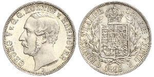 1/6 Thaler Kingdom of Hanover (1814 - 1866) Silver George V of Hanover (1819 - 1878)