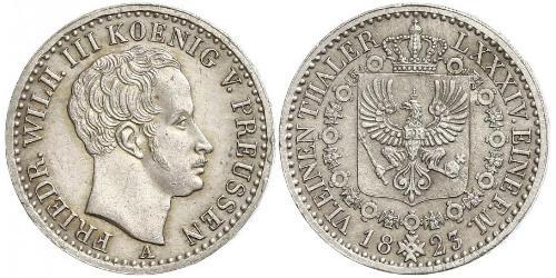1/6 Thaler Kingdom of Prussia (1701-1918) Silver Frederick William III of Prussia (1770 -1840)