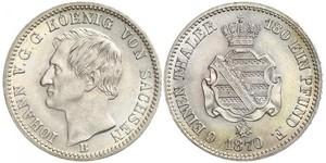 1/6 Thaler Kingdom of Saxony (1806 - 1918) Silver John of Saxony