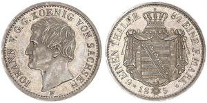 1/6 Thaler Kingdom of Saxony (1806 - 1918) Silver John of Saxony