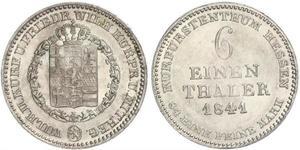 1/6 Thaler Landgraviate of Hesse-Kassel (1567 - 1806) Silver