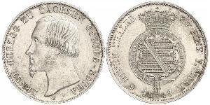 1/6 Thaler Saxe-Coburg and Gotha (1826-1920) Silver Ernest II, Duke of Saxe-Coburg and Gotha