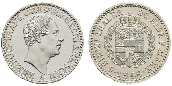 1/6 Thaler States of Germany Silver