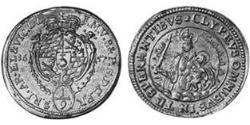 1/9 Thaler Electorate of Bavaria (1623 - 1806) Silver Ferdinand Maria, Elector of Bavaria (1636 – 1679)