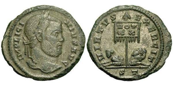 1 AE3 / 1 Фолліс Римська імперія (27BC-395) Бронза Ліціній I (265-324)
