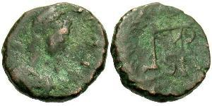 1 AE4 / 1 Фоллис Византийская империя (330-1453) Бронза Маркиан (392-457)