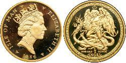 1 Angel Isle of Man Gold