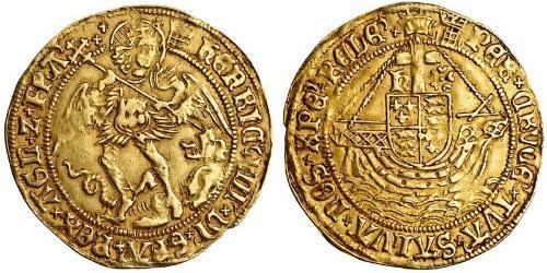 1 Angel Königreich England (927-1649,1660-1707) Gold Heinrich VIII (1491 - 1547)