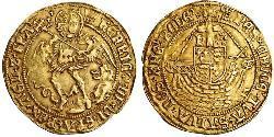 1 Angel Kingdom of England (927-1649,1660-1707) Gold Henry VIII (1491 - 1547)