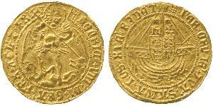 1 Angel Kingdom of England (927-1649,1660-1707) Gold Henry VIII (1491 - 1547)