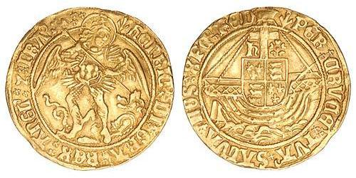 1 Angel Kingdom of England (927-1649,1660-1707) Gold Henry VII (1457 - 1509)