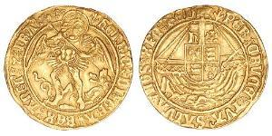 1 Angel Reino de Inglaterra (927-1649,1660-1707) Oro Enrique VII (1457 - 1509)