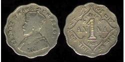 1 Anna British Raj (1858-1947)  George V of the United Kingdom (1865-1936)