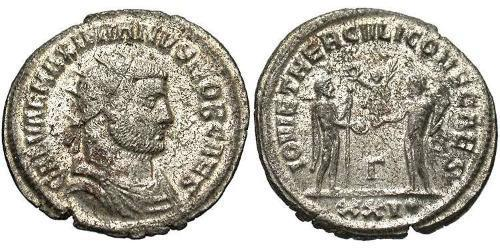 1 Antoninian Römische Kaiserzeit (27BC-395) Bronze Galerius Maximianus (260-311)