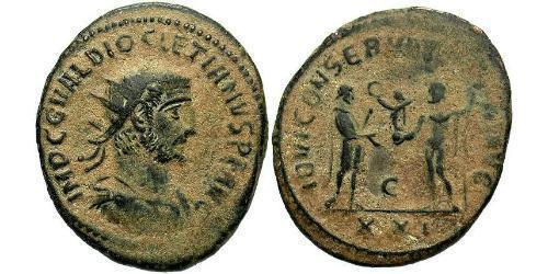1 Antoninian Römische Kaiserzeit (27BC-395) Bronze Diocletian (244-311)