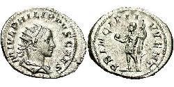 1 Antoninian Römische Kaiserzeit (27BC-395) Silber Philipp II (237-249)
