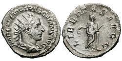 1 Antoninian Römische Kaiserzeit (27BC-395) Silber Trebonianus Gallus (206-253)