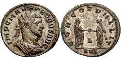 1 Antoninian Römische Kaiserzeit (27BC-395) Silber/Kupfer Probus (232-282)