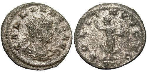 1 Antoninian Römische Kaiserzeit (27BC-395) Silber/Kupfer Gallienus (218-268)