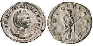 1 Antoniniano Impero romano (27BC-395) Argento Herennia Etruscilla (249-251)