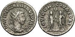 1 Antoniniano Impero romano (27BC-395) Biglione Argento Gallieno (218-268)