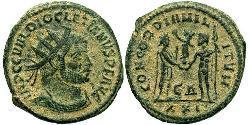 1 Antoniniano Imperio romano (27BC-395) Bronce Diocleciano (244-311)