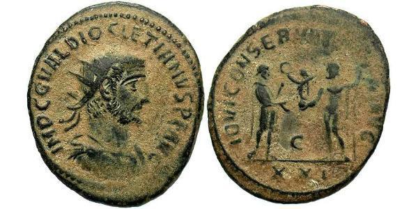 1 Antoniniano Impero romano (27BC-395) Bronzo Diocleziano (244-311)