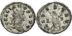 1 Antoniniano Impero romano (27BC-395) Rame/Argento Gallieno (218-268)